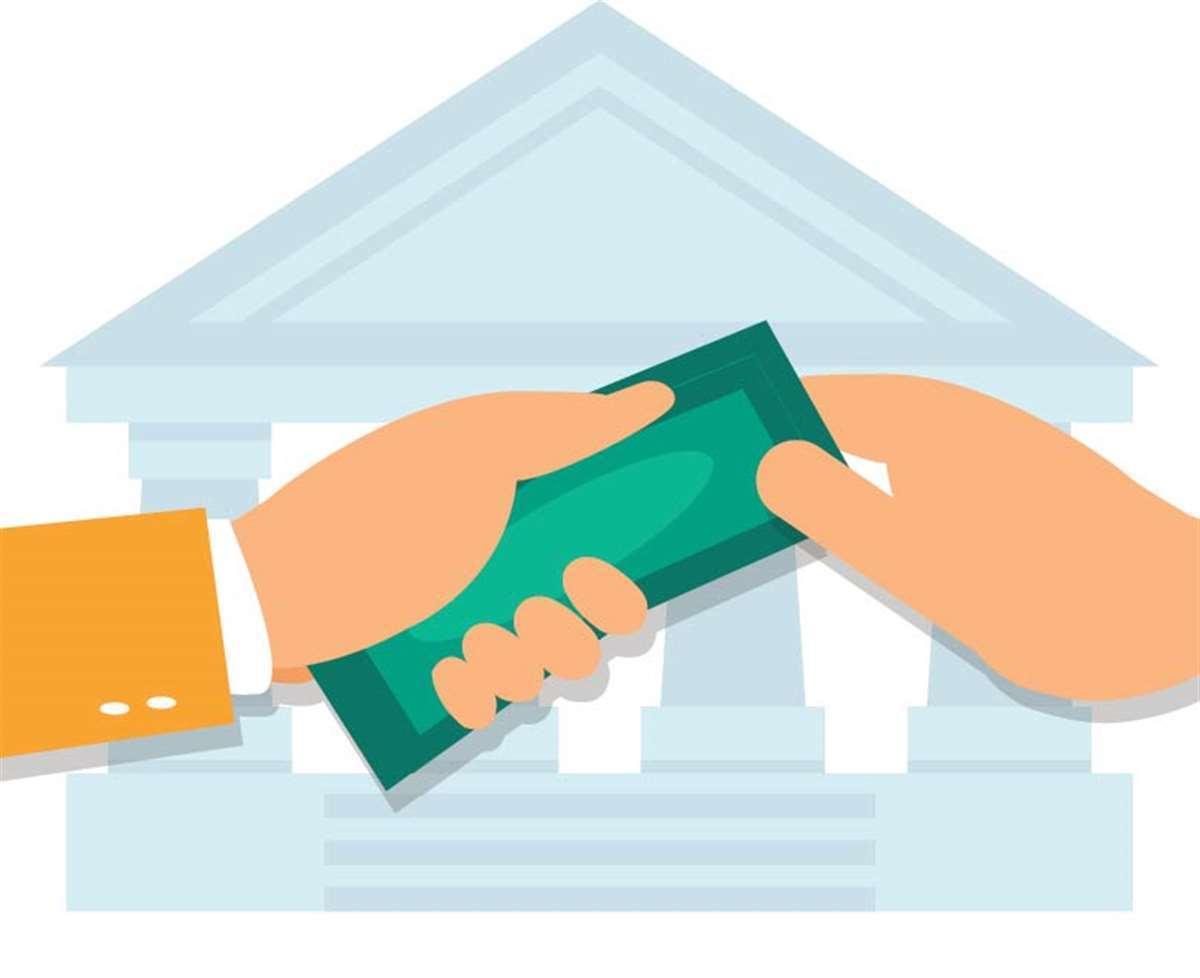 prestito rappresentato da passaggio di banconote da una mano all'altra