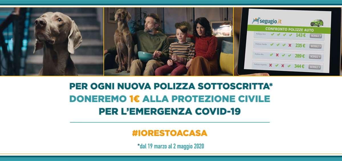 Con Segugio si resta a casa e si aiuta la Protezione Civile